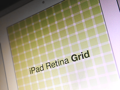 iPad Retina Wireframe Grid