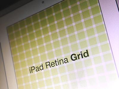iPad Retina Wireframe Grid